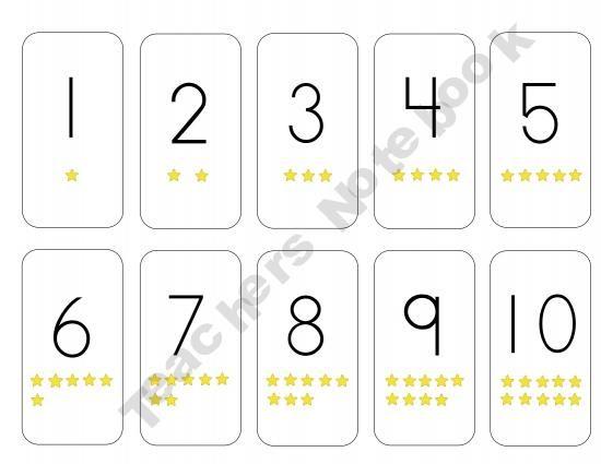 Number Cards 1 - 10