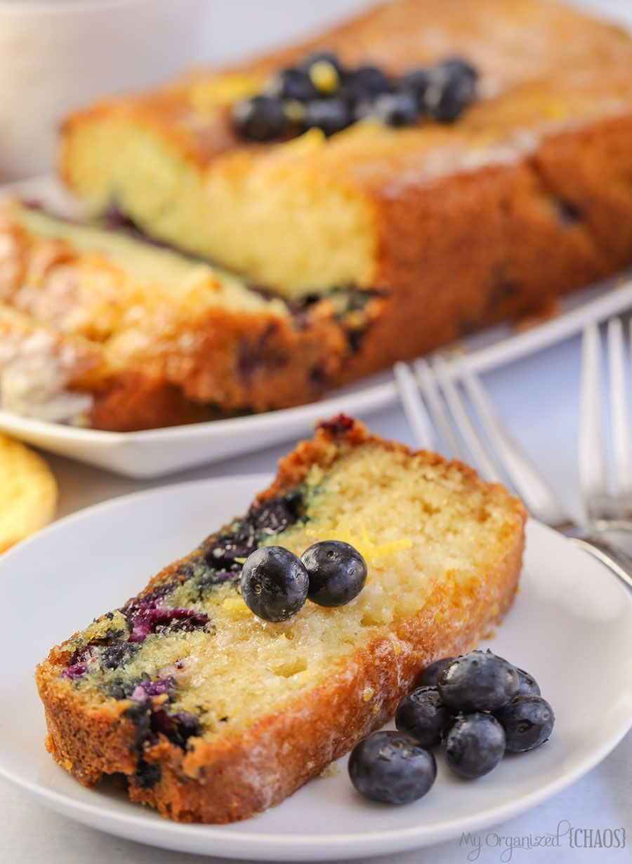 Blueberry lemon loaf cake is so moist and delicious a