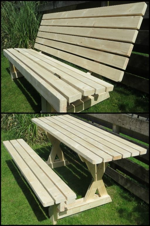 Build A 2 In 1 Picnic Table Bench Perfect For Small Outdoor Spaces Do You Need This Your Yard