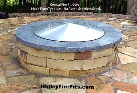 Conical Shaped Fire Pit Cover Made From Stainless Steel I Build