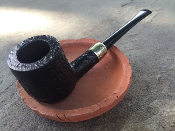 Vintage Straight Billiard SJV Briar Tobacco Pipe by RelixMpls