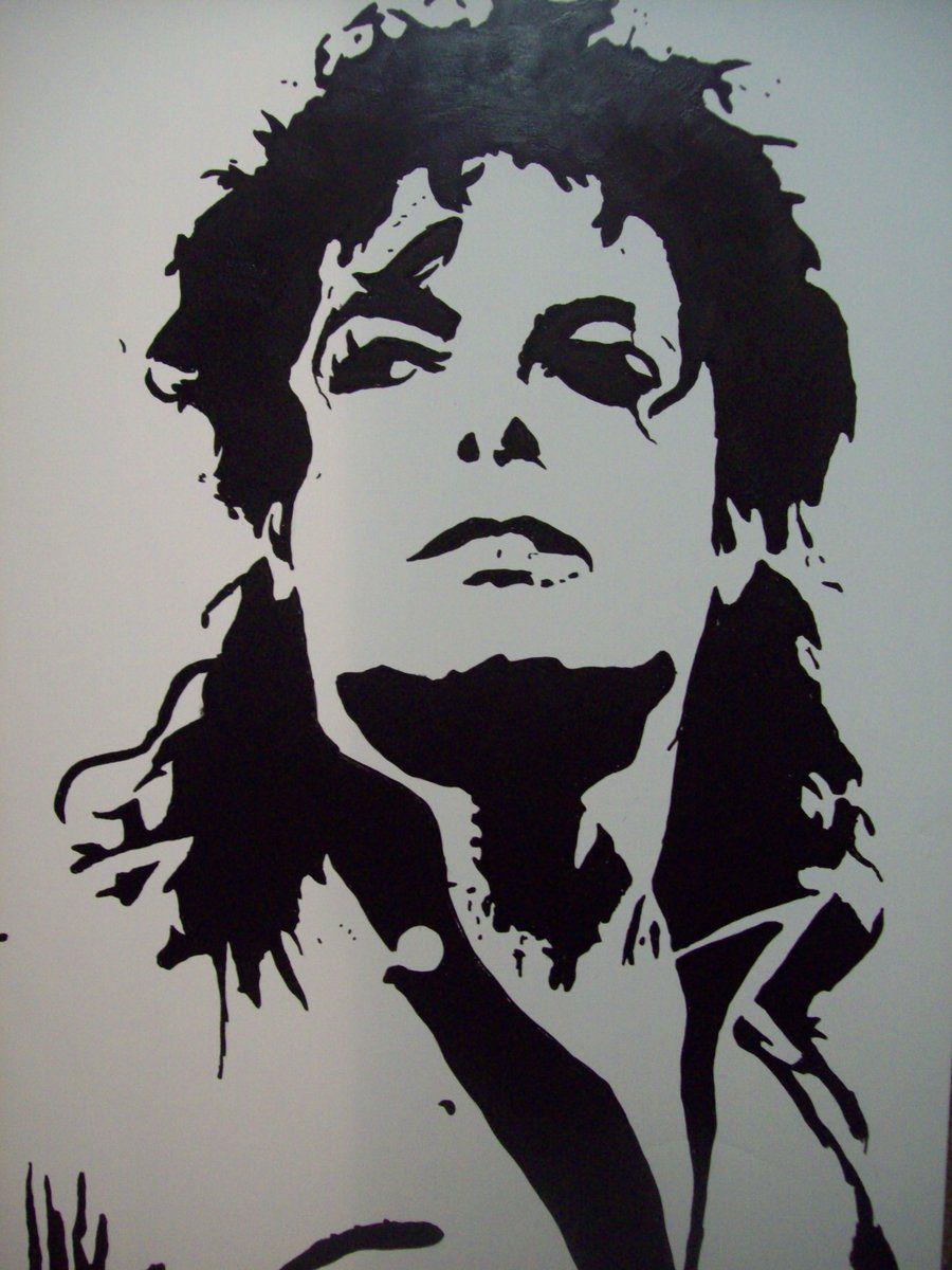 michael jackson stencil iii by tresbigdog cuadros para