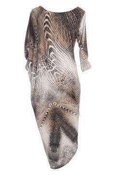Very Phynix Asymmetrical Drape Dress - Womens Knee Length Dresses - Birdsnest Online Shop