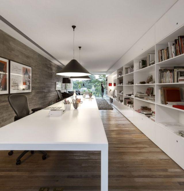 boden-wand pendelleuchte weiß tisch verkleidung-modern holzarten ... - Boden Und Wandgestaltung In Weis Modern Haus
