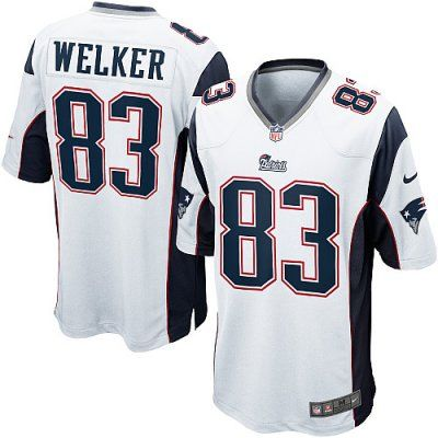 9d2bb835 Nike Patriots 83 Wes Welker Nike Game Jersey Away white NFL Jersey ...