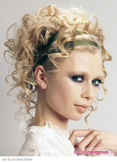 Short Curly Hairstyles For Prom : Flirty curly updo hair style tie your locks into a similar flirty