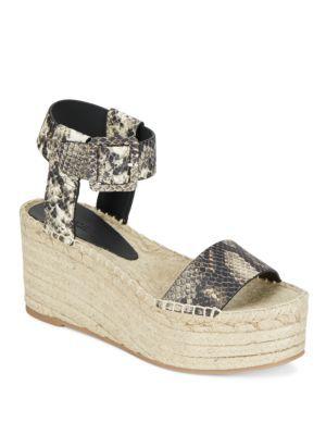 6b4afd56308f VINCE Abby Snake-Embossed Leather Espadrille Platform Wedge Sandals.  vince   shoes  sandals