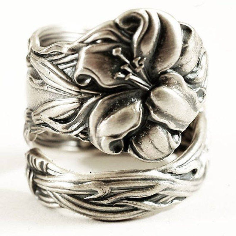 Sterling Butterfly Ring,Butterfly Ring,Silver,Spoon,Spoon Ring,Butterfly,Antique Ring,Silver Ring,Sterling,Wedding valleygirldesigns.