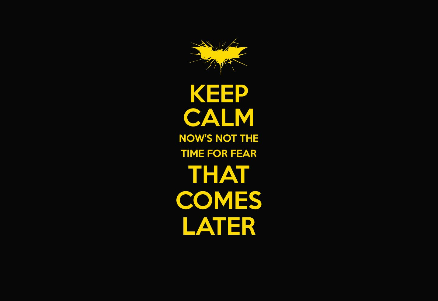 Wallpaper Keep Calm from quote The Dark Knight Rises