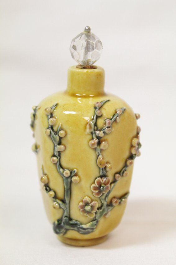 Chinese Porcelain Snuff Bottle Daoguang Mark Parfum Bottle