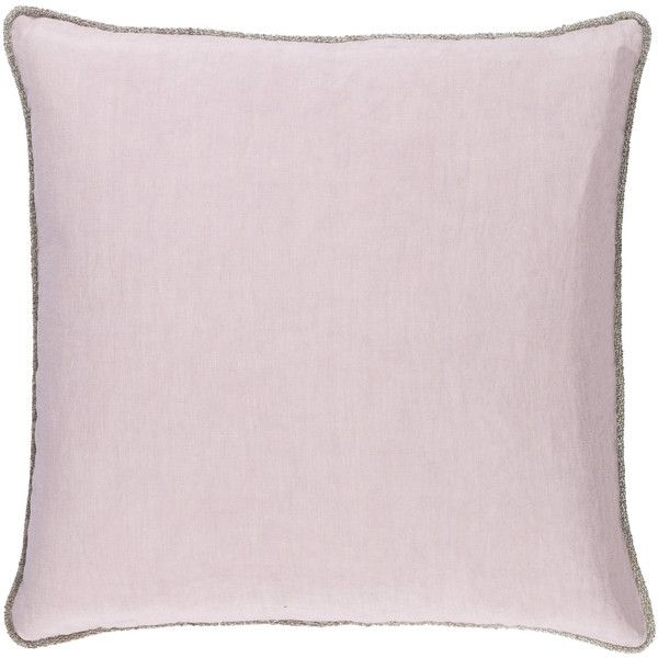 Surya Sasha Lavender Decorative Pillow 95 liked on Polyvore