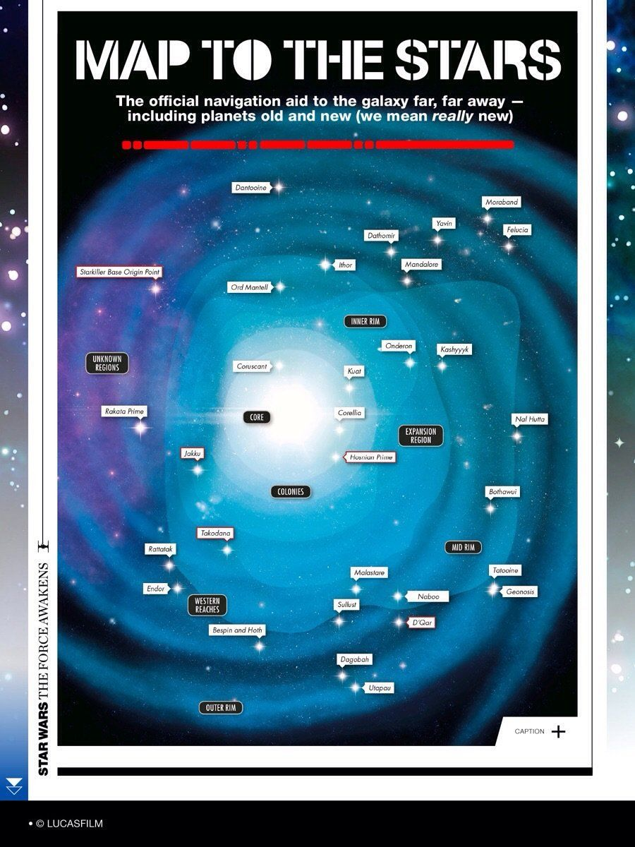Official Star Wars Galaxy Map Reveals New Force Awakens Planets