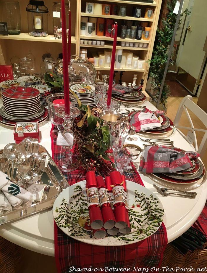 Williams Sonoma Christmas Table.Tartan Christmas Table Setting Vintage Style Friends Of