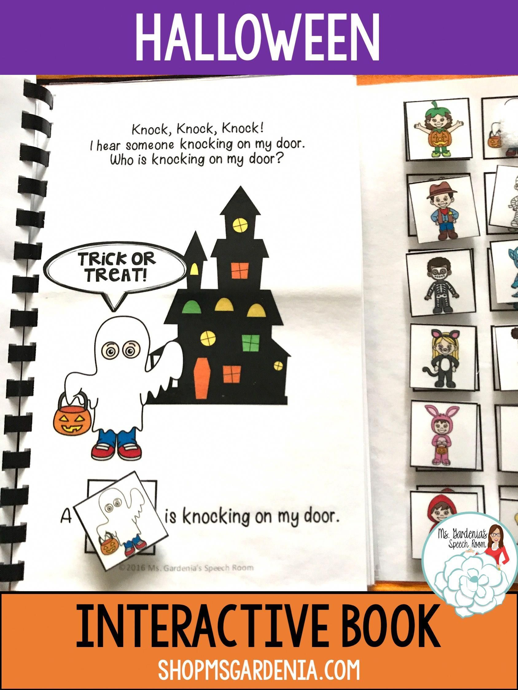 Wh Questions Halloween Interactive Book For Speech And