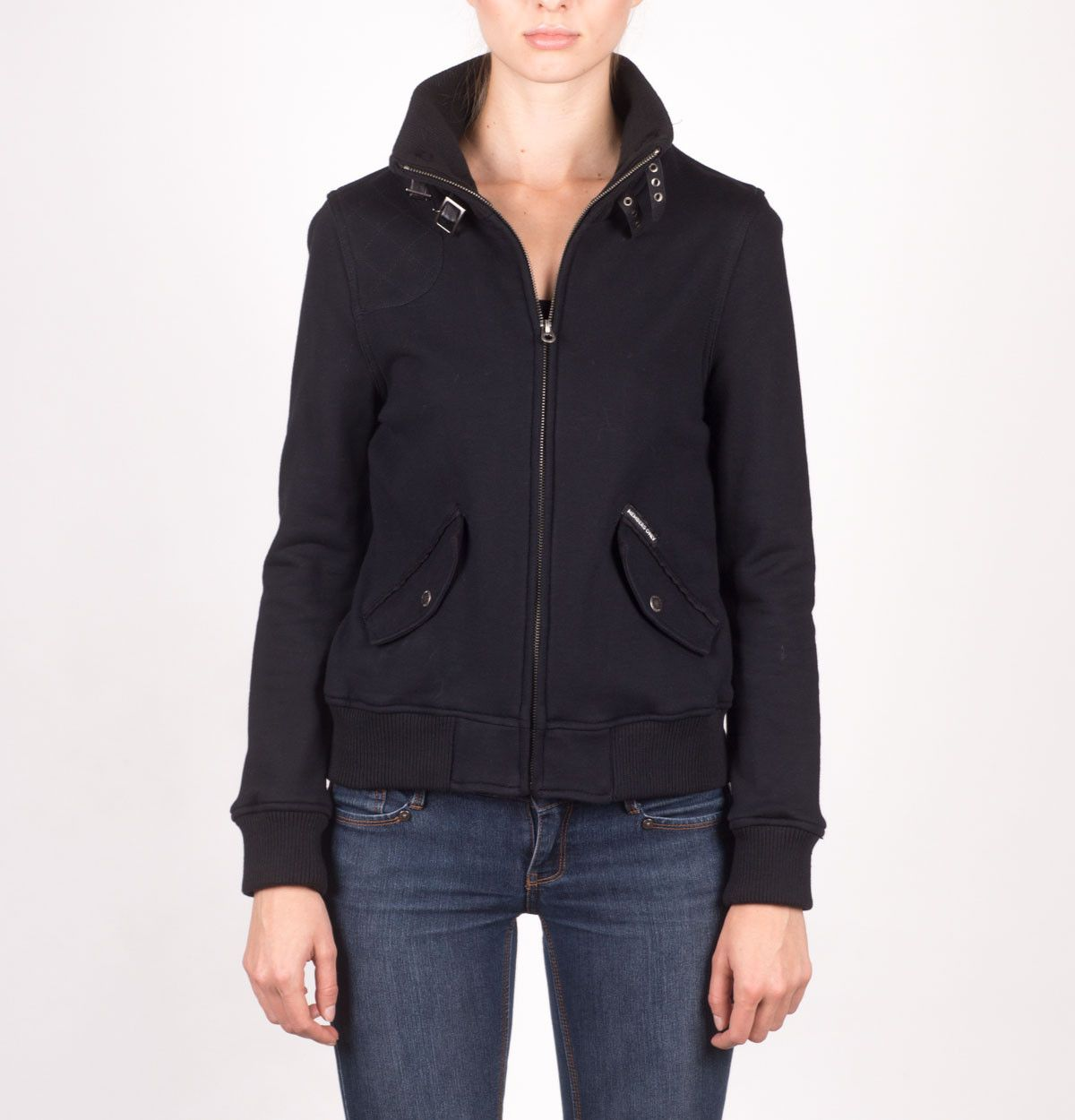Teresa- French Terry Knit Full Zip Jacket | Women's Jackets | Members Only – Members Only® Official