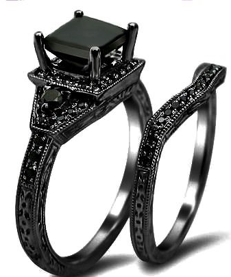 HOME3 Wedding set Princess cut and Underworld