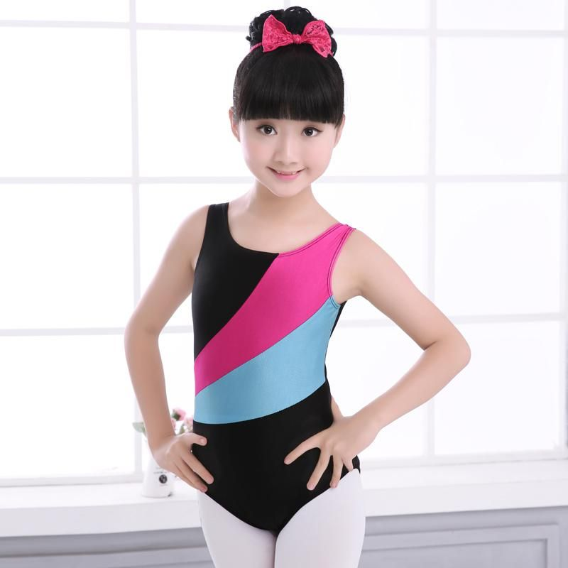 1fad70f38 Girls Rhythmic Gymnastics Dance Leotard Shiny Spandex Ballet ...