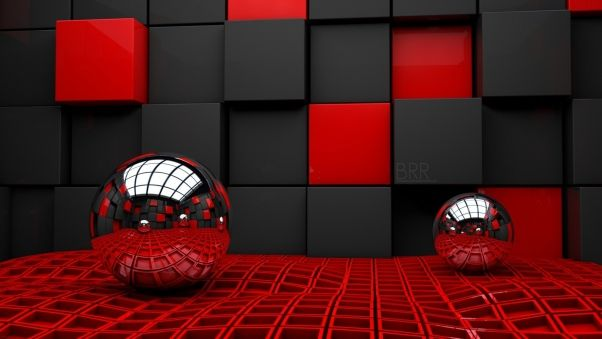 Wallpaper Ball Cube Cubes Glass Metal Plastic Free Wallpaper Red Wallpaper Cool Wallpaper Wallpaperscraft apk download for pc