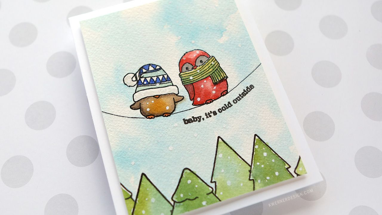 Baby, It's Cold Outside - Funny Winter Birds http://www.kwernerdesign.com/blog/?p=16969