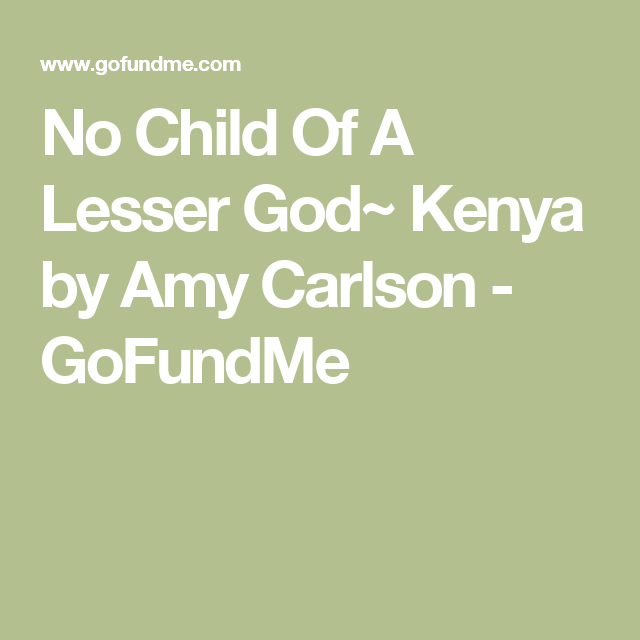 No Children of a Lesser God