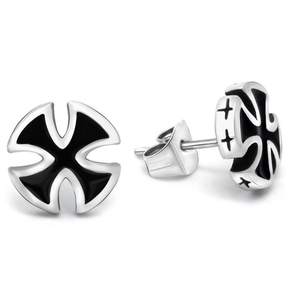 personality fashion mens steel the earrings s accessories fans titanium stud men flash products