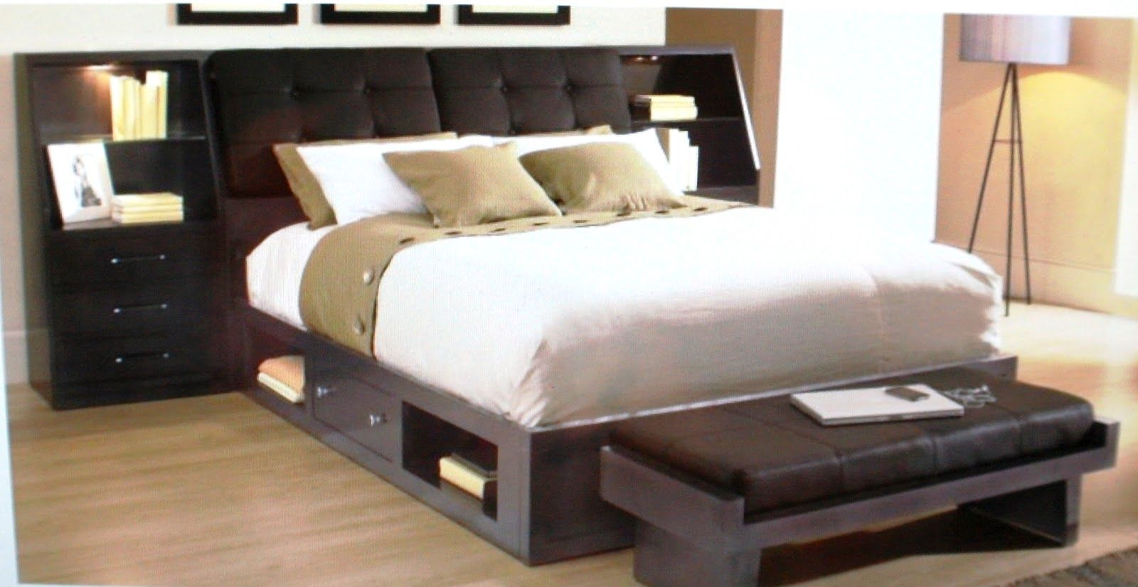 By Broyhill Furniture In Orange Ca Perspectives Leather Storage Bed California King