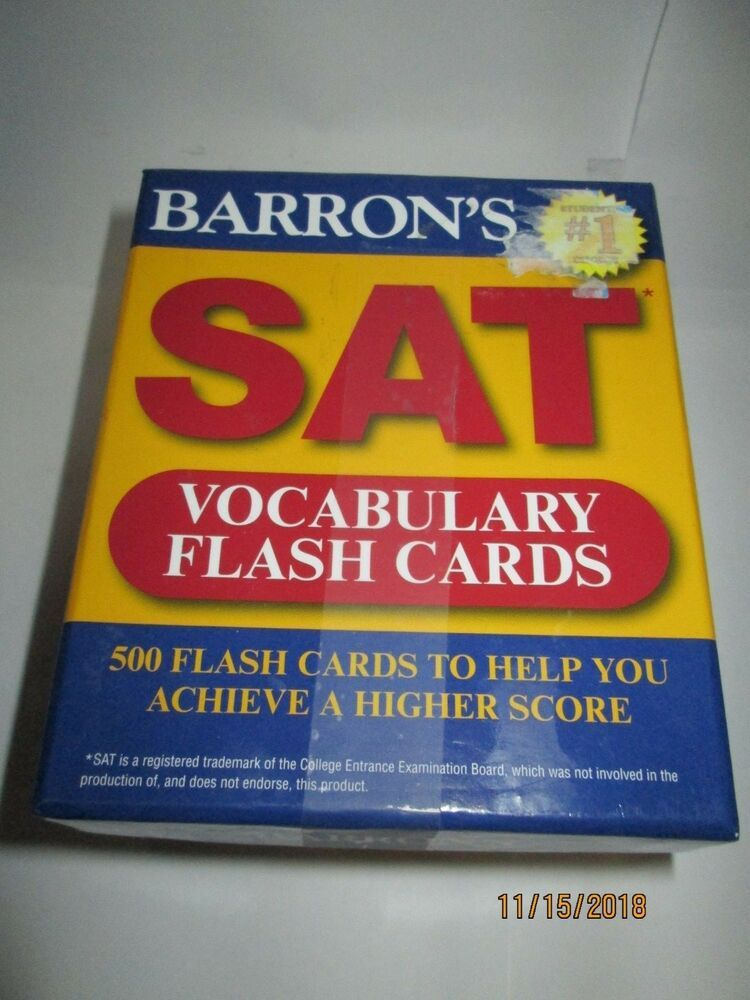 Barron's SAT Vocabulary Flash Cards Copyright 2011 #Barrons