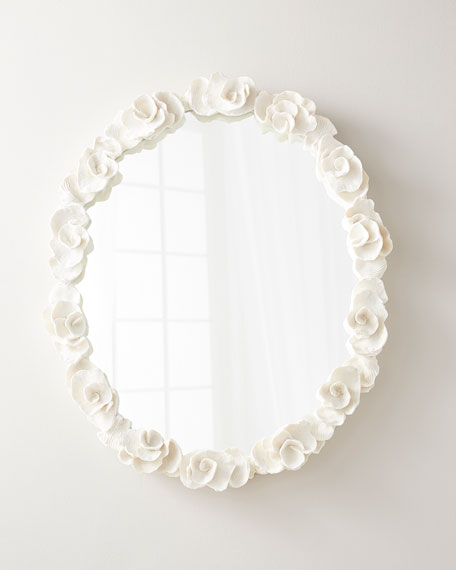 Gardenia Mirror Floral Mirror Mirror Oval Mirror