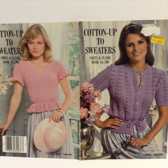 Vintage Knit and Crochet Pattern Booklet Cotton Up by RaeOfLight, $2.00