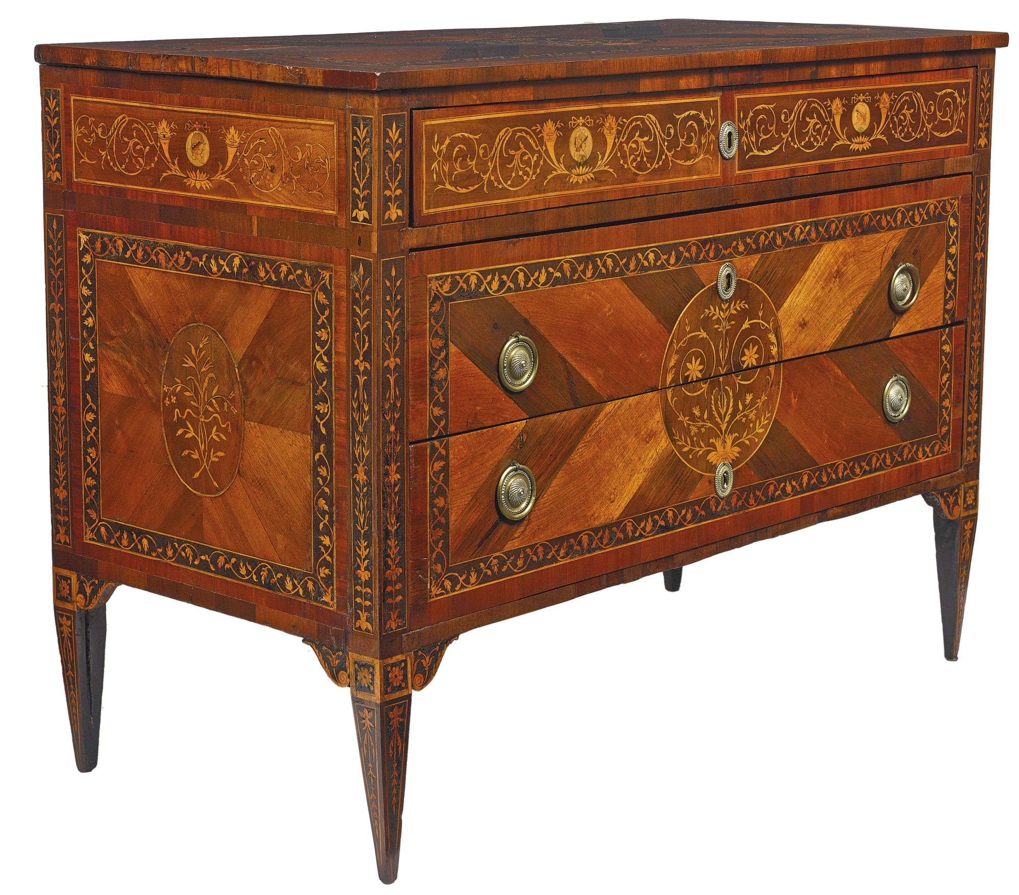 Muebles Italianos Clasicos A Pair Of Italian Neoclassical Rosewood Walnut Marquetry