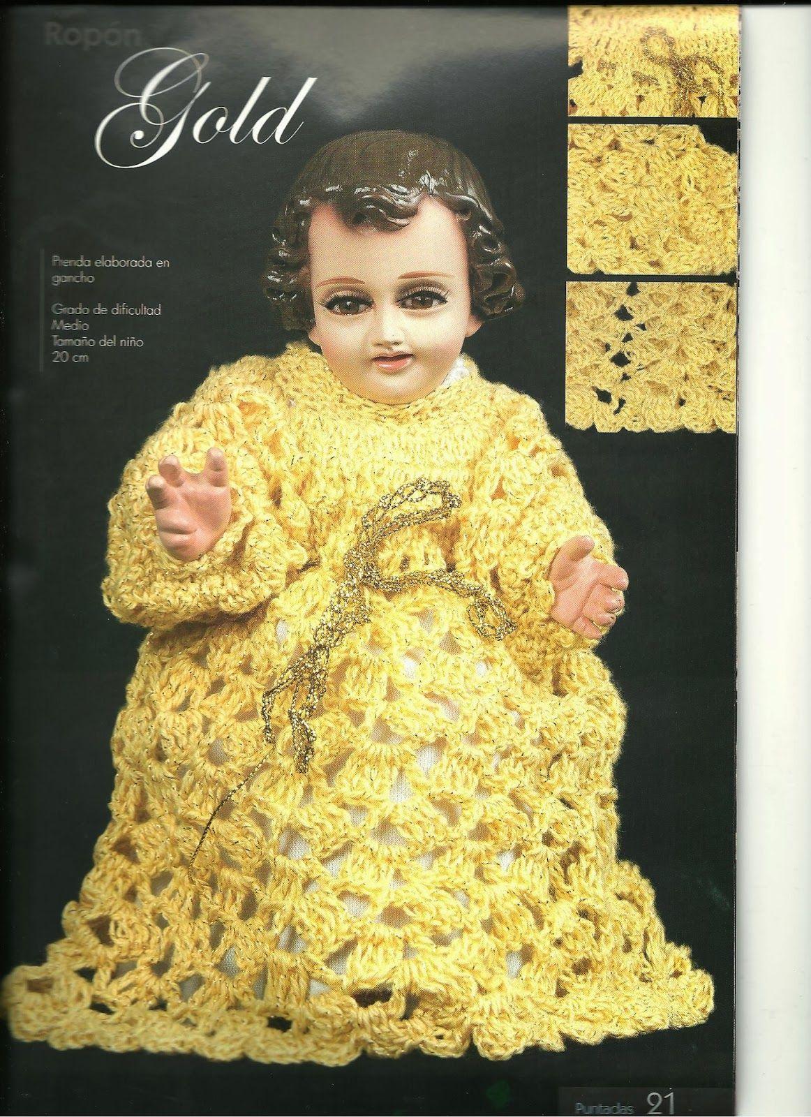 teje vestido de niño dios a gancho esquemas y patrones | ropita niño ...