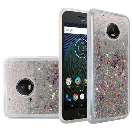 08689ce8bfc Motorola Moto G5 Plus case, by Insten Liquid Quicksand Glitter Fused  Flexible Hybrid Hard Case Cover For Motorola Moto G5 Plus - Silver