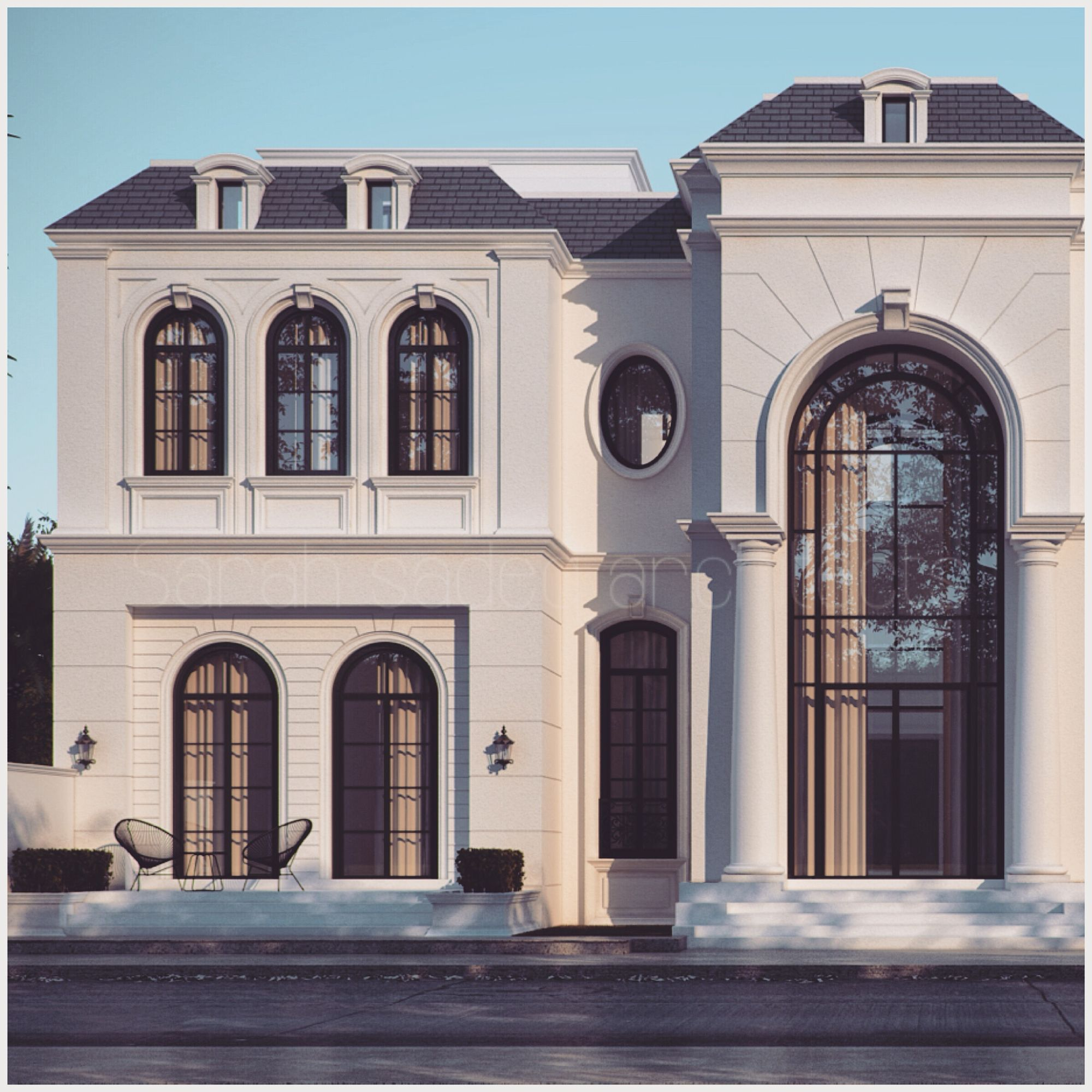 Abu dahbi private villa sarah sadeq architects sarah for Architecture villa design