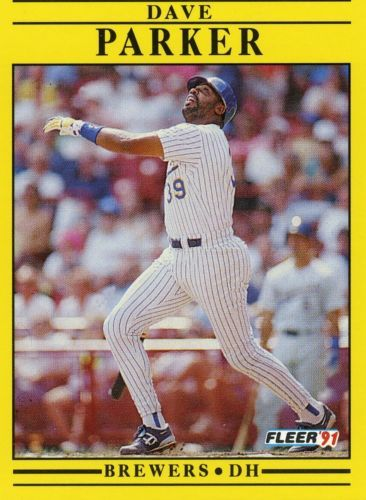 Rare 1991 Fleer Dave Parker Milwaukee Brewers Mint Rare Mlb