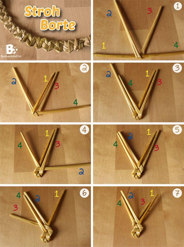 stroh flechten ist eine uralte tradition mit der haupts chlich strohh te hergestellt wurden. Black Bedroom Furniture Sets. Home Design Ideas