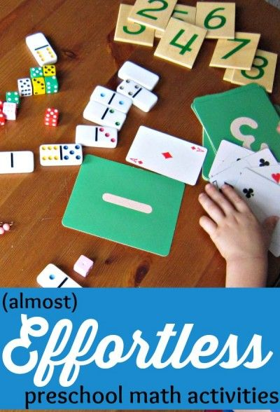 Almost Effortless Preschool Math Activities Preschool Math