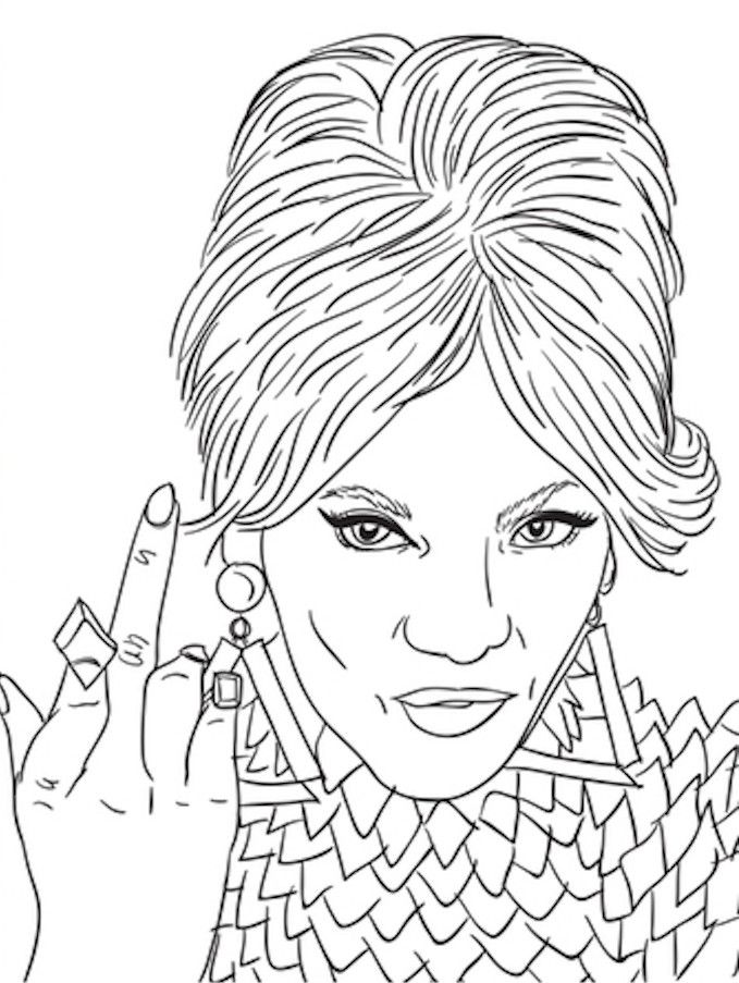 Evolution Of Beyonce Coloring Book Is The Perfect Way To