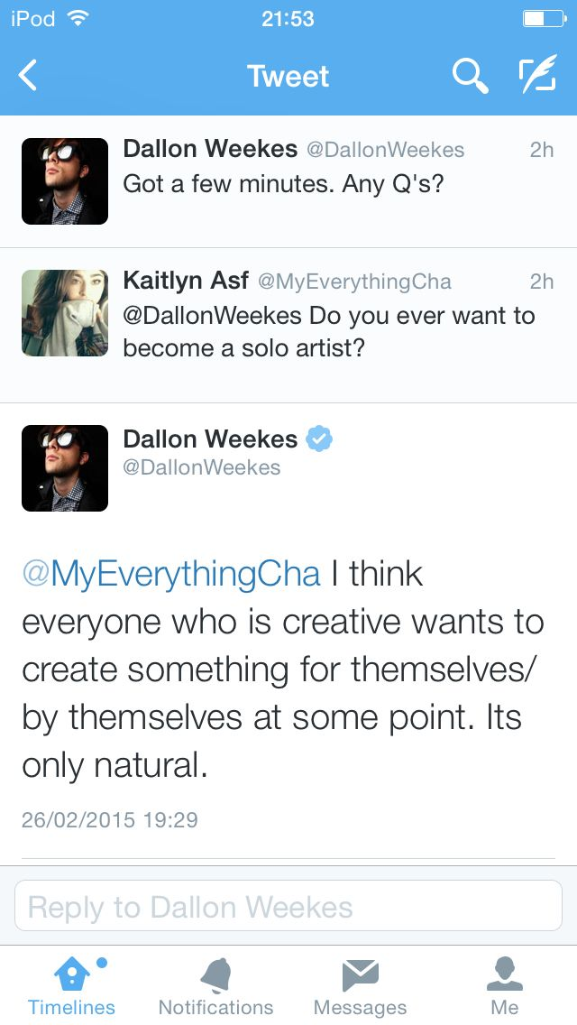 Dallon Twitter QnA's