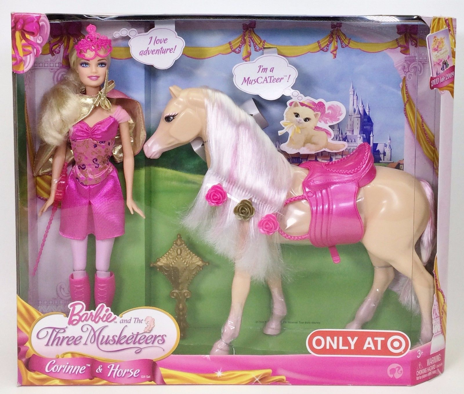 Brunette Barbie Dancin/' Fun Horse /& Doll