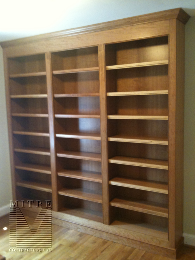 Cherry Wood Bookcase Built In