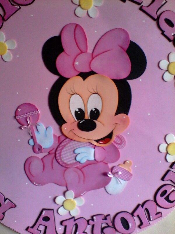 Minnie bebe en foami mis trabajos en foami minnie for Decoracion habitacion bebe goma eva