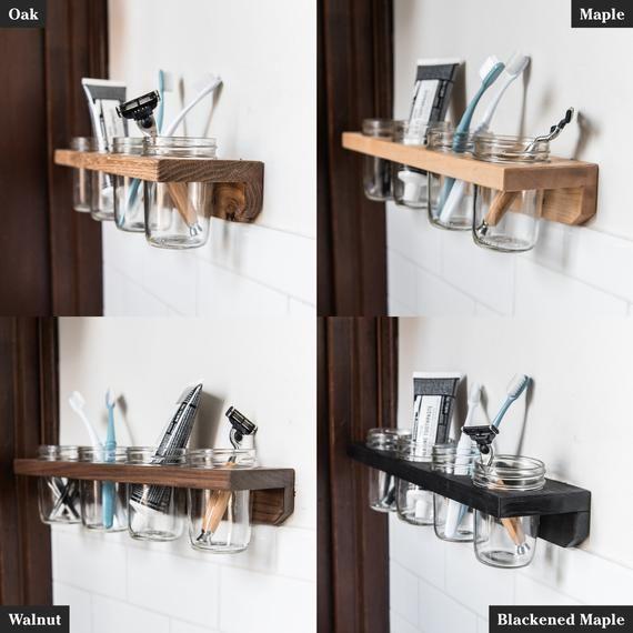 Landis Jar Wall Caddy With 4 Jars Kitchen Decor Home
