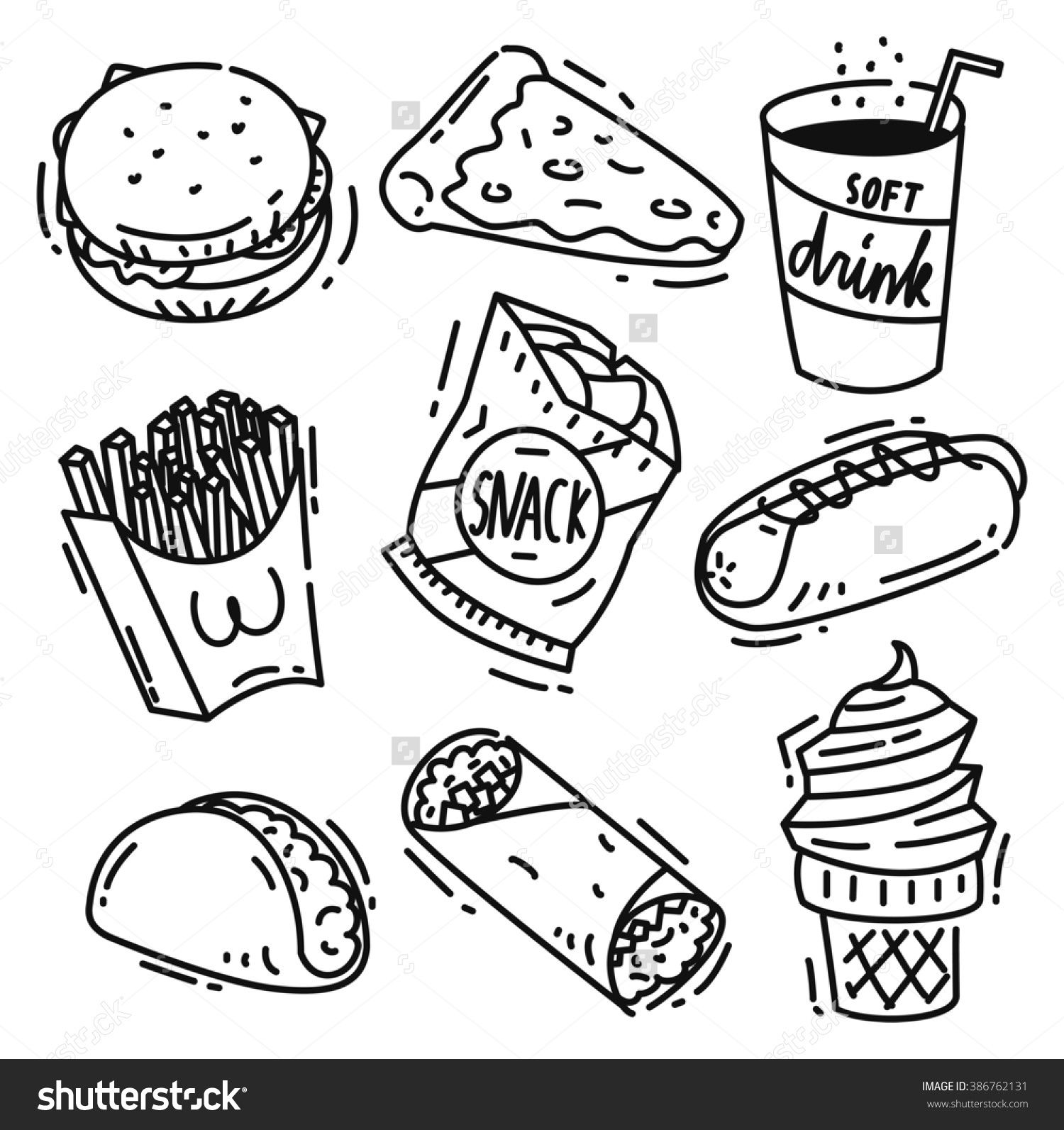 unhealthy food coloring pages a lot unhealthy best free
