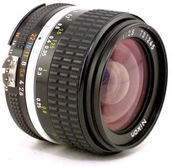 Manual Focus Nikkor 28mm F 2 8s Wideangle Lens Vintage Cameras Photography Camera Camera Lenses