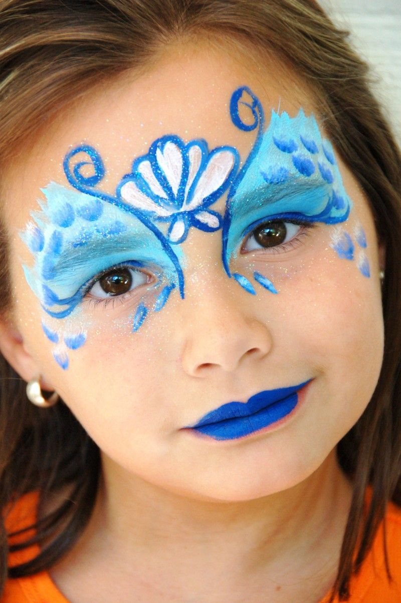 mermaid blue face painting for girls face painting pinterest kinderschminken. Black Bedroom Furniture Sets. Home Design Ideas