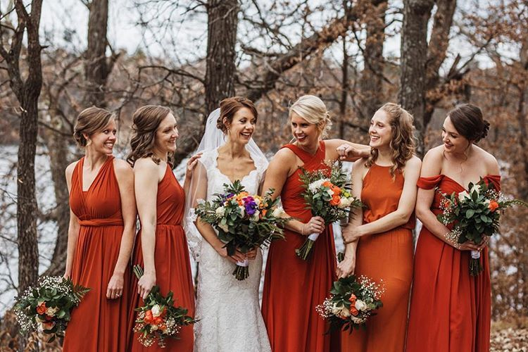 Burnt Orange Bridesmaids Dresses Mixed Matches Bridesmaid Dresses Mn Orange Bridesmaid Dress Fall Orange Bridesmaid Dresses Burnt Orange Bridesmaid Dresses
