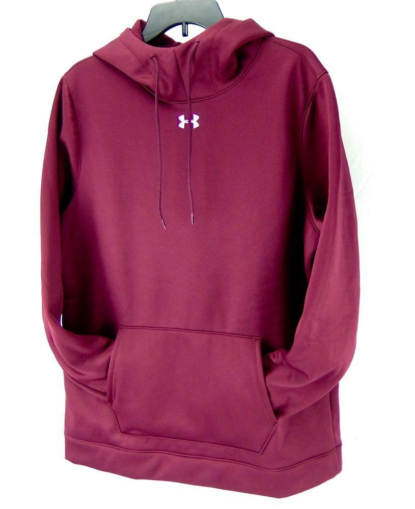 dbe40369256d Under Armour Loose Fit Water Resistant Hoodie Sweatshirt Burgundy Women L  Tall  Underarmour  Hoodie