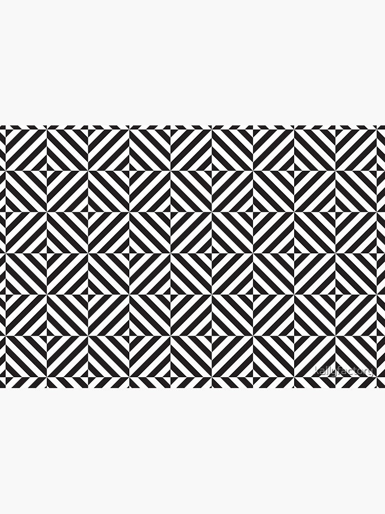 Black And White Diamond Pattern Distorted Optical Illusion Hardcover Journal By Kallyfactory Redbubble Optical Illusions Illusions White Diamond