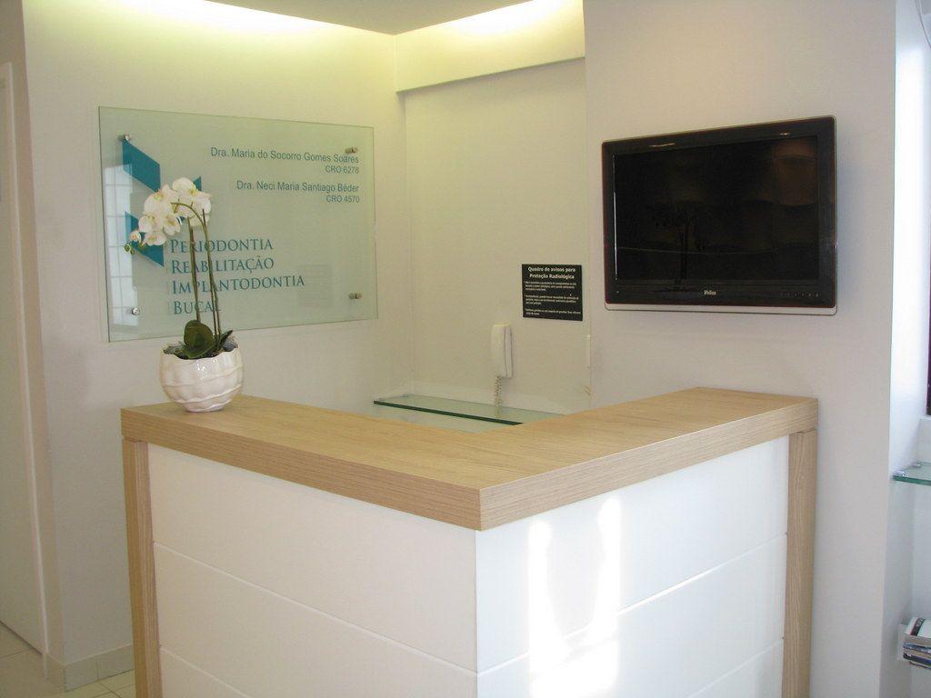 Recep o consult rio odontologico projetojunejaim the - Banco reception ikea ...