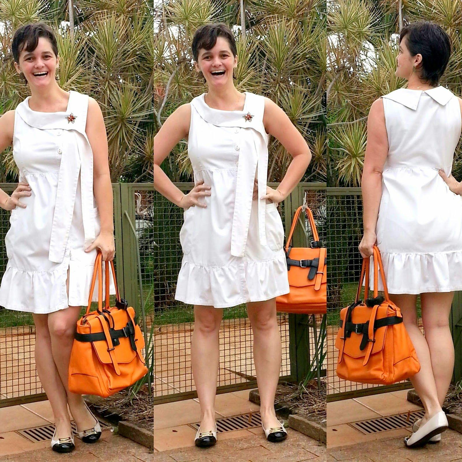 LEILA DINIZ *blog: Look BRANCO (quase) TOTAL não fosse o toque laranj...